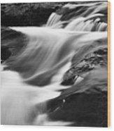 Two Island River Cascade Wood Print