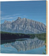 Two Jack Lake In The Morning Wood Print