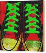 Two Left Feet Wood Print