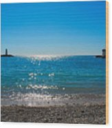 Two Lighthouse And The Wonderful Beach Wood Print