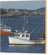 Two Lobster Boats Wood Print