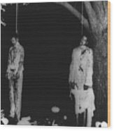 Two Lynched African American Men Wood Print