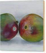 Two Mangoes Wood Print