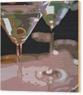 Two Martini Lunch Wood Print