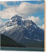 Two Medicine Lake And Rising Wolf Mountain Wood Print
