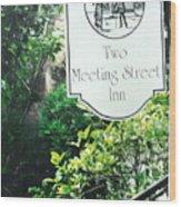 Two Meeting Street Wood Print