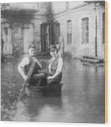 Two Men In A Tub Wood Print by Fpg