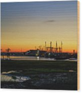 Two Mile Landing At Sunrise - Wildwood Crest New Jersey Wood Print