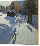 Two Mountain Huts Wood Print