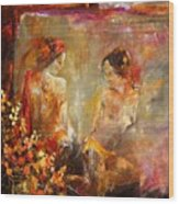 Two Nudes  Wood Print