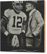 Two Of The Greastest Minds In Pro-football Wood Print by Robert Ballance