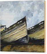 Two Old Boats Wood Print