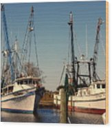 Two Old Shrimpboats Wood Print