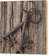 Two Old Skeletons Keys Wood Print