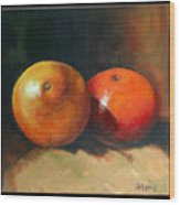 Two Oranges Wood Print by Pepe Romero