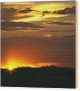Two Peaks Sunset Wood Print