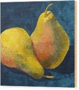 Two Pears Wood Print