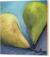 Two Pears Still Life Wood Print