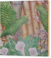 Two Perrots Wood Print