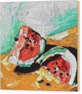 Two Piece Watermelon  Wood Print