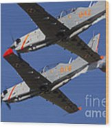 Two Pzl-130 Orlik Trainers Wood Print
