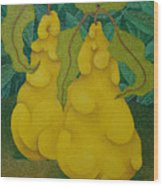 Two Quinces  2008 Wood Print