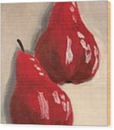 Two Red Pears Wood Print