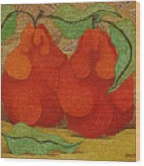 Two Red Quinces  2008 Wood Print