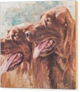 Two Redheads Wood Print by Debra Jones