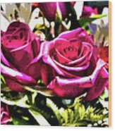 Two Roses Wood Print