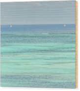 Two Sailboats In The Bahamas Wood Print