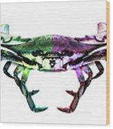 Two Sides - Duality Crab Art Wood Print