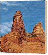 Two Sisters Formation Sedona Az Hbn2 Wood Print