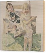 Two Sisters Too Wood Print