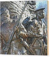 Two Soldiers Of The The African American Civil War Memorial -- The Spirit Of Freedom Wood Print