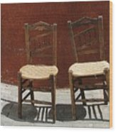 Two Spainisch Chairs  Wood Print