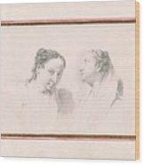Two Studies Of Girls Wood Print