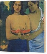 Two Tahitian Women Wood Print