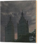 Two Towers Wood Print