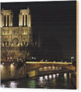 Two Towers Of Notre Dame Wood Print