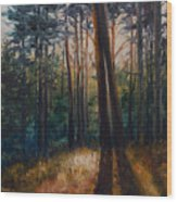 Two Trees Wood Print