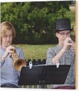 Two Trumpets Wood Print