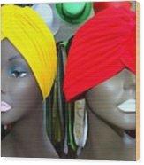 Two Turbans Wood Print