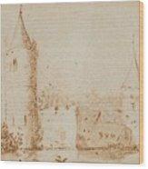 Two Views Of Egmond Castle Wood Print