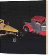 Two Vintage Cars Models  Wood Print