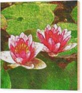 Two Waterlily Flower Wood Print