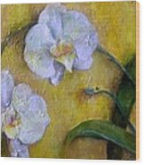 Two White Orchids Wood Print