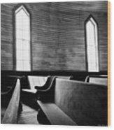 Two Window Church Wood Print