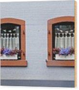 Two Windows In Schierstein Wood Print