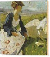 Two Women On The Hillside 1906 Wood Print